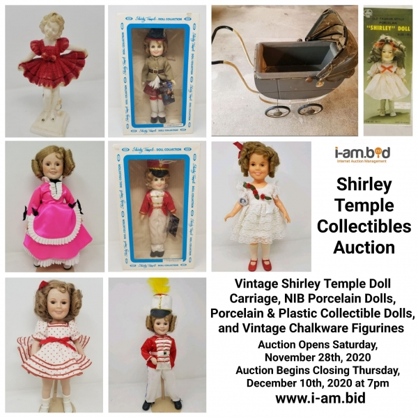 Shirley Temple Collectibles Auction December 10th, 2020