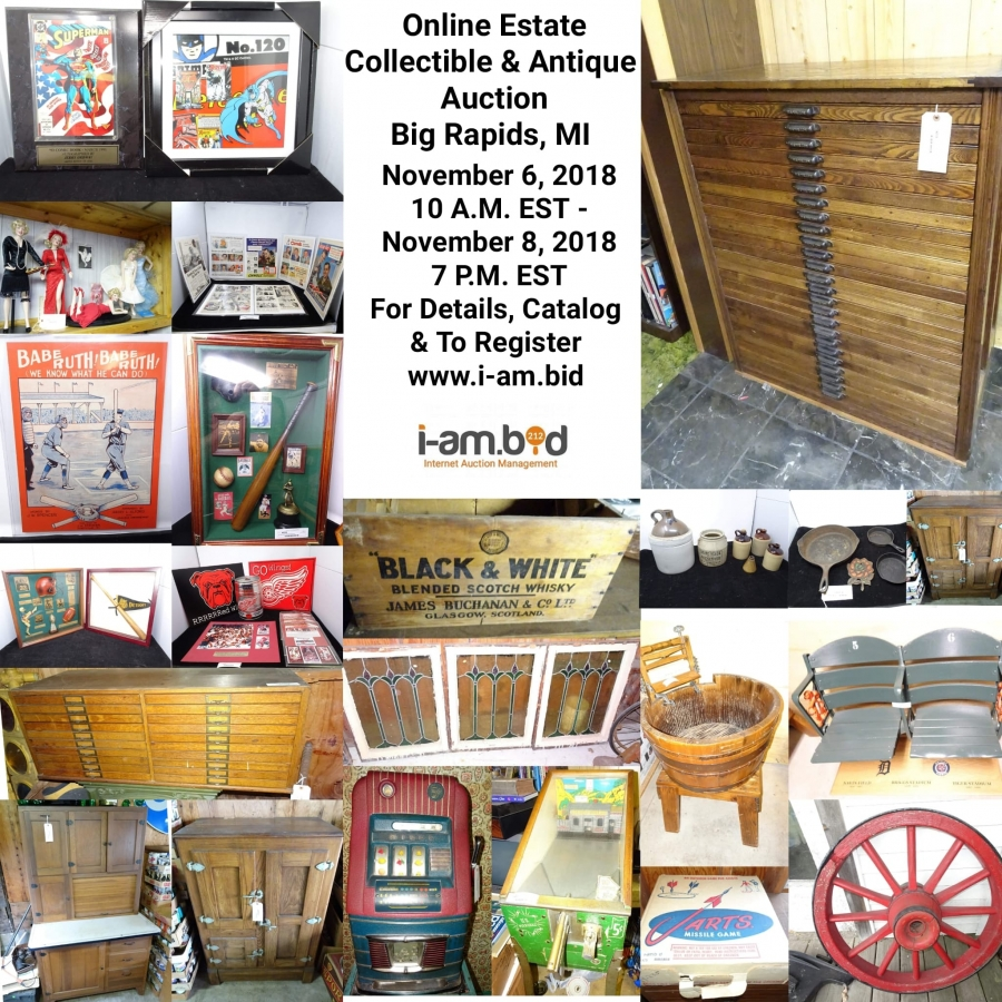 Online Collectibles & Memorabilia Auction! Big Rapids, MI #3