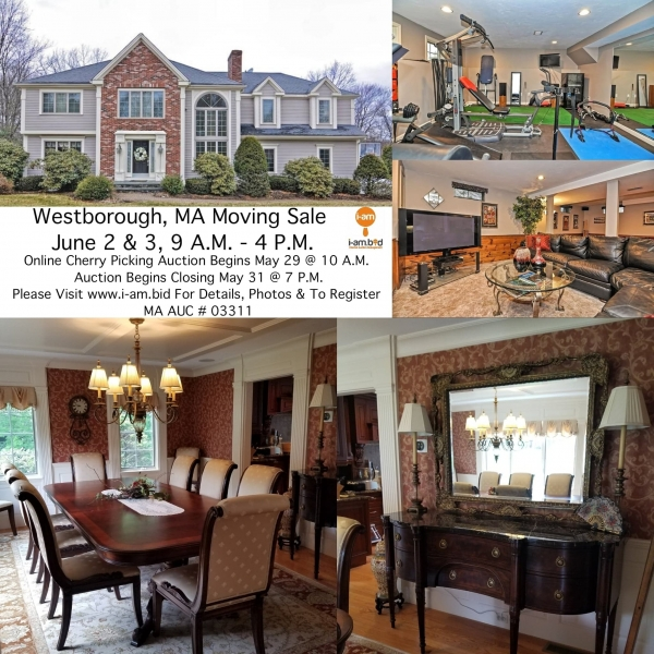 Westborough MA Multi Day Online Estate Auction Followed By 2-Day Onsite Moving Sale!